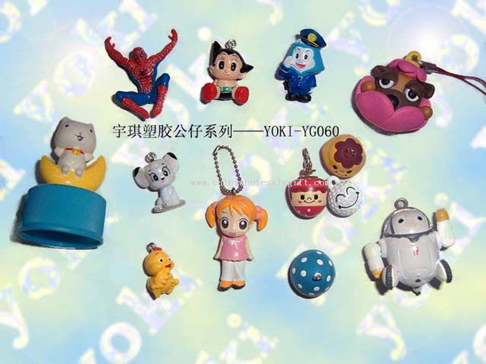 Serie di giocattoli di plastica