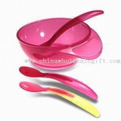 Heat Warning Feeding Bowl and Spoon Set images