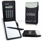 Leather Notebook with Calculator and Pen images
