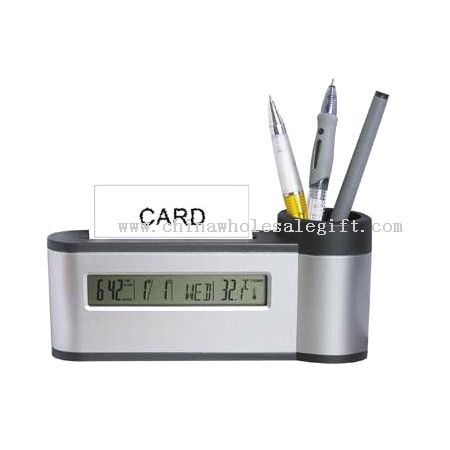 Pen Holder/Card Holder/Clock/Calendar/Temperature/Music