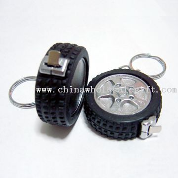 key ring tape measure tyre shape
