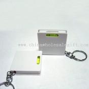 key ring tape measure square shape with water level images