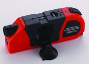 Laser level device with tape measure and calculator images