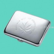 Chromeplated Cigarette Case Holding 16pcs Cigarettes images