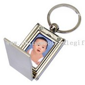 Metal keychain with photo frame images