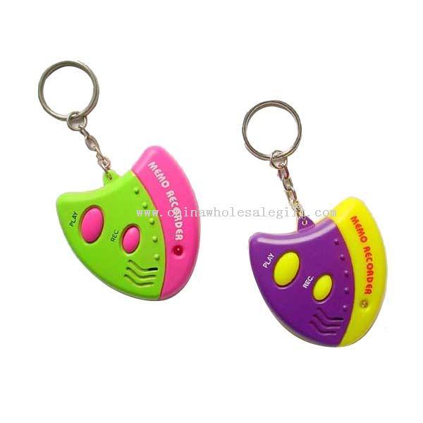 Recorder keychain