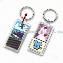 Solar-powered Waterproof Flash LED Keychain Lights images
