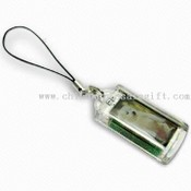 Solar Power LCD Flashing Keychain images