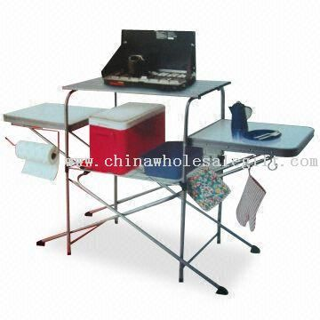 Foldable Grill Table, with Poder Coating and PC Connector