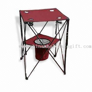 Foldable Table with Cooler Basket