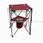 Foldable Table with Cooler Basket images
