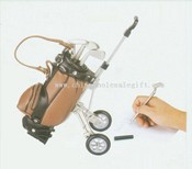 Golf Bag Pen Holder With Cart images