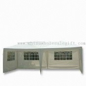 White Garden Gazebo with Replaceable Sidewalls and Four Windows images