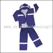 HIGH VISIBILITY EN471 PU WATERPROOF SAFETY SUIT. images