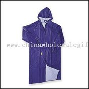 PVC/POLYESTER/PVC Raincoat with vented-cape back images