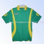 Jersey Made of Polyester in Green and Yellow images