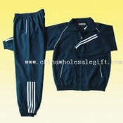 Plain Microfiber Track Suit with 60GSM Mesh Lining images