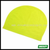 Flexible Silicone Skin Swim Swimming Cap - Yellow images