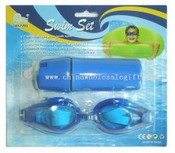 Swim-Sets (TPR Adult Swim Goggle + Wasserdichte Box) images