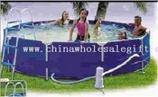 Round frame pool images