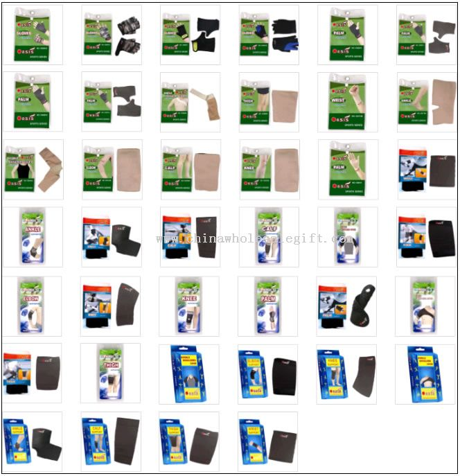 Sport support ankle palm knee calf thigh back support slimming products
