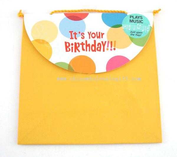 Voice talking gift bag