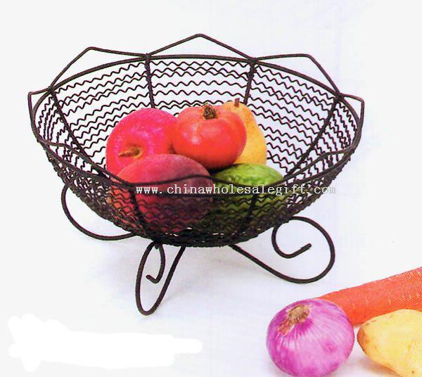 cesto di frutta di ferro