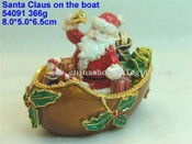 santa claus on the boat images