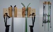 Wall ski rack for 2 pair of skis images