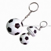 Promotional USB flash drives with ball shape & Keychain images