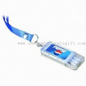 Solar-powered LCD Keychain with Flashing Logo and USB Flash Drive images