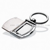 Elegant Photo Frame Keychain with Metal Accent images