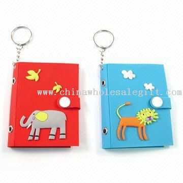 Photo Frame Keychains with 3D Embossed Soft PVC Cover