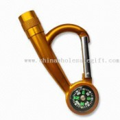 LED Metal Carabiner Keychain with Compass Function images