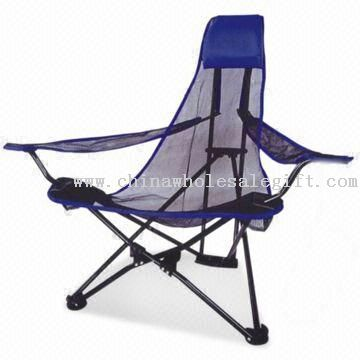 High Back Mesh Beach Chair with PVC Coating and 16mm Steel Frame