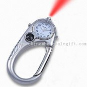 Alloy Case Keychain Watch with LED Light and Compass images