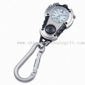 Keychain Watch with Japan Movement with compass images