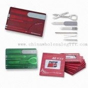 Multi Swiss Survival Cards with Inch and Centimeter Measurer images
