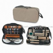 Outdoor Tool Set with Stainless Steel BBQ Tools with Wooden Handle images