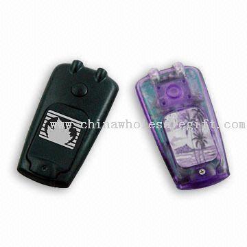 Mini mobilní telefon baterka s LED světly, snadno se přenáší