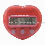 Heart-shaped Pedometer with Weight Adjustment images