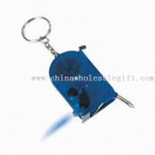 Multifunction Keychain Composed of Screwdriver Tape Measure and LED Torch images