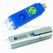 Promotional USB LED Torch with Rechargeable Battery images