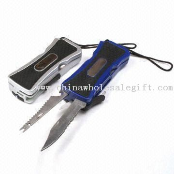 Multifunction Pocket Knives with LED Torch and Saw