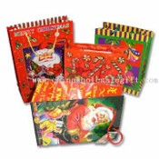 Paper Gift Bag with Christmas Theme and Matte Lamination images