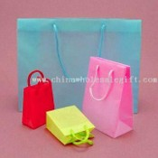 Paper Gift Bags with Christmas Theme and Optional Glossy Lamination images