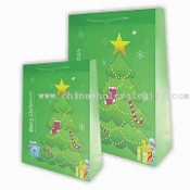 Shopping Bags with Christmas Tree Pattern images