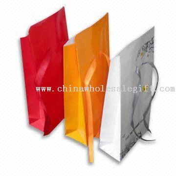 Paper Gift Bags with Christmas Theme