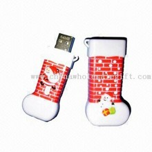 Christmas stocking USB Stick 1536 Christmas Stocking ABS USB Flash Drive with 10 Years Data Retention images