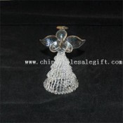 Angel designet Christmas Glass Ornament images